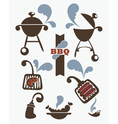 Collection of bbq symbols vector