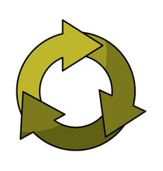 Recycle symbol isolated icon vector