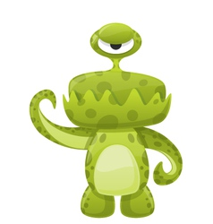 Green slime monster vector