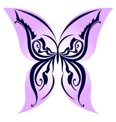 Abstract butterfly on white background for design vector