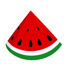Slice of juicy summer watermelon vector