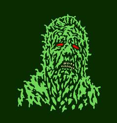 Putrid head of zombie vector