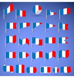 Flags of france vector