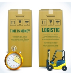 Logistic vertical banners vector