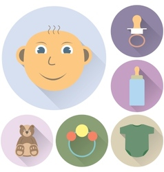 Childrens icons on a white background vector
