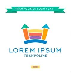 Logo inflatable kids trampoline color vector image