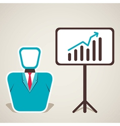 Men with business growth design vector