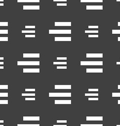 Right-aligned icon sign seamless pattern on a gray vector
