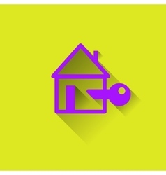 Logo of the house protection housing vector