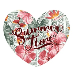 Summer time hearth with hawaiian motifs vector image