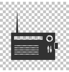 Radio sign  dark gray icon on vector