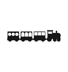 Black silhouettes of trains vector