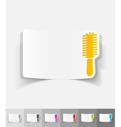Realistic design element hair brush vector