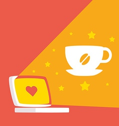 About work and coffee daytime vector