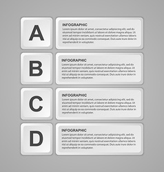 Abstract keyboard buttons infographic Design vector image vector image