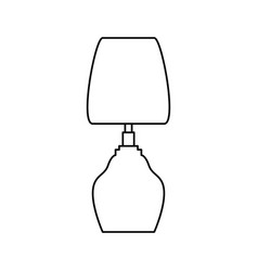 Bedside lamp silhouette vector