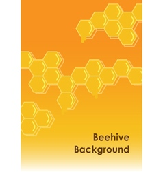 beehive background vector image vector image