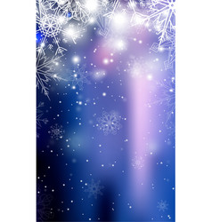 blurred blue christmas winter background with vector image