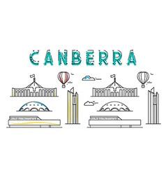 Canberra capital city australia sights of vector