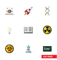 Flat icon knowledge set of theory of relativity vector