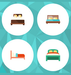 flat set of furniture bearings mattress an vector image