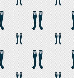 Football gaites icon sign seamless pattern with vector