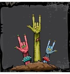 Halloween rock n roll zombie background vector