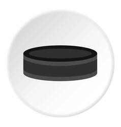 Hockey puck icon circle vector
