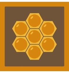 Icon image honeycomb 2 vector image vector image