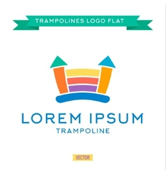 Logo inflatable kids trampoline color vector