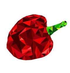 Low poly bell pepper vector