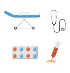 medical icons set care ambulance hospital vector image vector image
