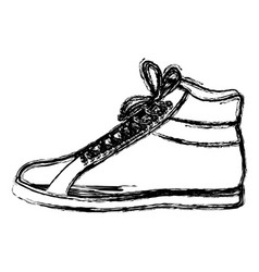Monochrome blurred contour of male leather boot vector