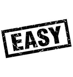 Square grunge black easy stamp vector