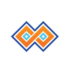 Square infinity geometry logo vector