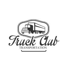 Transportation heavy trucks company club logo vector