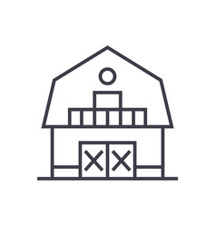 warehousefarmbarn line icon sign vector image