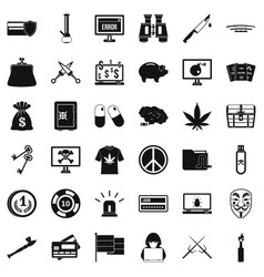 Washing money icons set simple style vector