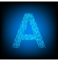 Water letter a vector