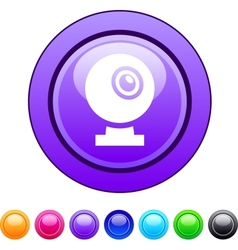 Webcam circle button vector image vector image