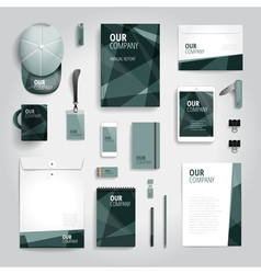 Corporate identity stationery print template vector