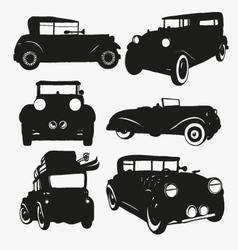Set retro cars vector image