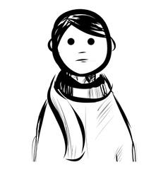 Boy in a scarf vector image