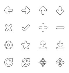 Web icon sets line icons vector