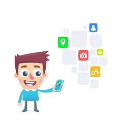 Extensive choice free apps for smartphone vector