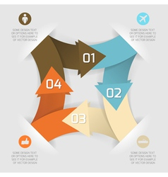 Modern business origami style options paper banner vector image