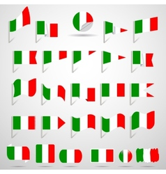 Flags of italy vector