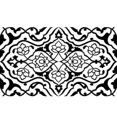 Black artistic ottoman pattern series fifty six vector