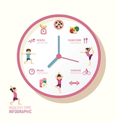 Infographic watch and flat icons idea health vector