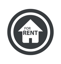 Round black for rent sign vector